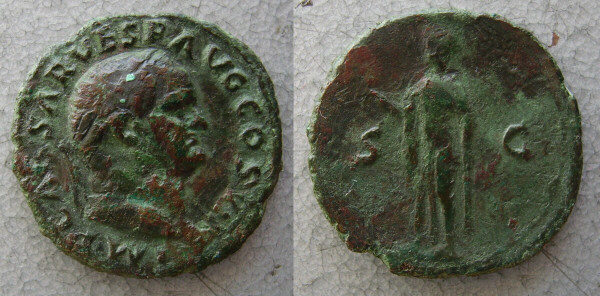 Roman Coins - bronze coins of the 1st and 2nd century